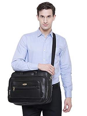 Trajectory Elegant Black Messenger and Laptop Bag for Professionals