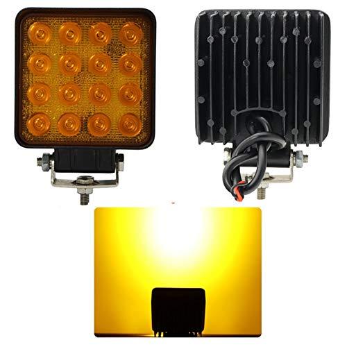 Preisvergleich Produktbild LED Arbeitsscheinwerfer, 2PCS16 Perlen Super Hell Traktoren Mähdrescher Rückfahrlampe Bagger Gabelstapler Flutlicht (Farbe : 1)