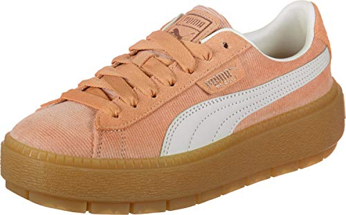 Puma Platform Trace Corduroy W Shoes Dusty Coral-Pomegranate
