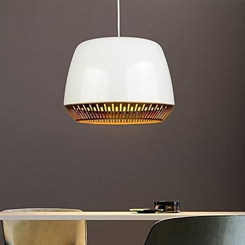 KMDJ Estilo nórdico Simple Iluminación Creativa de hierro forjado Bar y restaurante candelabro de iluminación lámpara colgante-1 light(blanco)