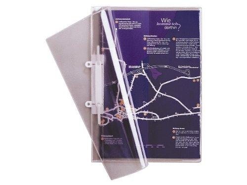 Durable 251219 Sichthefter glasklar A4 (aus Weichfolie, für A4, 223 x 313 mm) 25er Packung...