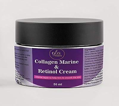 Marine Collagen Cream with Retinol High Strength |Nourishing Moisturiser for Men and Women|Reduce Fine Lines, Wrinkles & Age Spots|Premium Anti-Ageing Cream For Face, Eye & Neck 50 ml