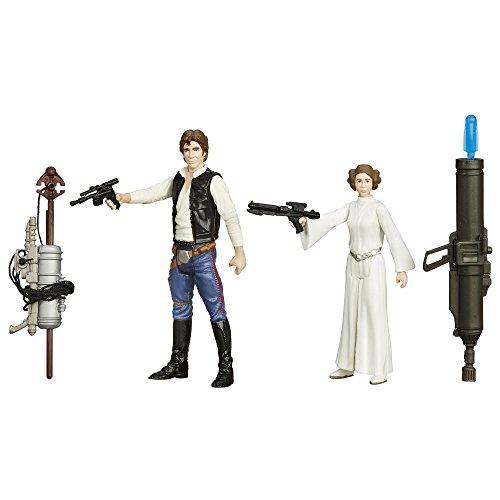 Princess Leia & Han Solo Episode IV Figurenset Star Wars The Force Awakens 2015 von Hasbro / Disney (Leia Han Und)