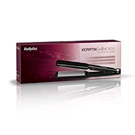 - 41lJ9IFZ0zL - Straighteners BaByliss 235 Keratin Shine Wide 2179BU with Ultra-Fast Heat Recovery, Sleek Control and Ceramic Plates