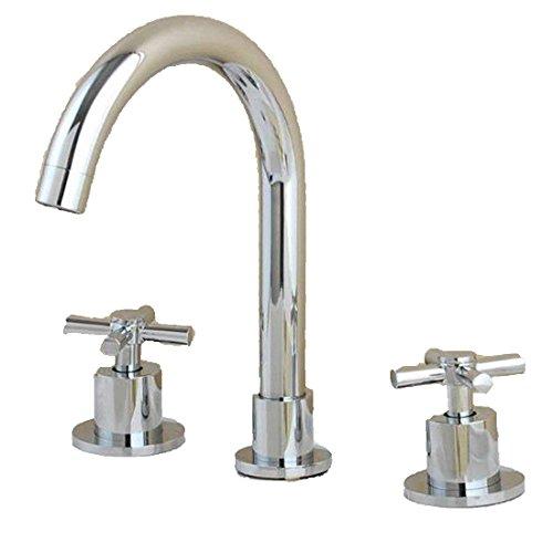 Alle Kupfer antik Hahn 3 - Loch Waschtisch Armatur mit heißen und kalten Wasserhahn im Waschbecken wasserhahn Griff, Badezimmer Armatur c