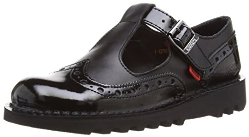 Kickers  Kick T Brogue Patl Af,  Damen Mary Jane Halbschuhe , schwarz - 39 EU (6 UK) -