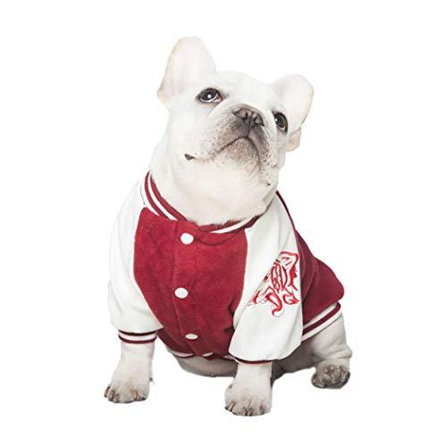 Petea Baseball-Pullover für Hunde und Katzen, mit Löwen-Streifen, für den Winter -