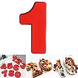 DUBENS Große Anzahl 0-9 Kuchenform Backen Jubiläum, Zahl Geburtstag Hochzeit Jahrestag Kuchen Dose, Silikon Nummern Backform Zahlen Silikonform Ziffer Kasten (1)