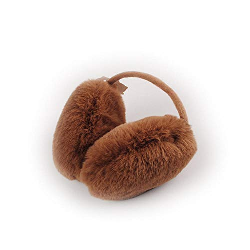 XMDEZ Mädchen Ohrenschützer-Winter warm-Plüsch Pailletten-Frauen Männer Kinder Outdoor Ohr wärmer-braun