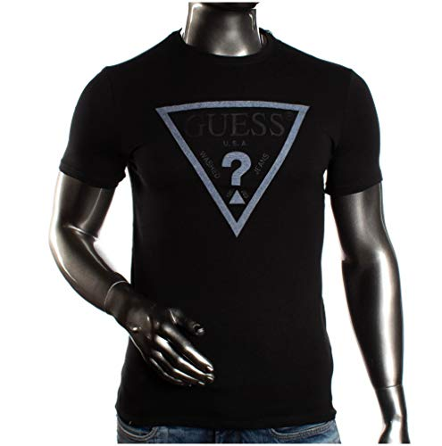 Guess Uomo T-Shirt Con Logo Nero Mod. S