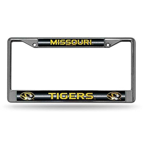 Rico NCAA Glitzer-Chrom-Kennzeichenrahmen mit Glitzer-Akzent, Chrome, 12 x 6-Inch (License Plate Missouri)