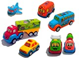 Forever Kidzz Unbreakable Pull Back Automobile Car Friction Powered Cars Push and Go