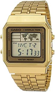 Casio Men's Digital Watch, Digital Display and Stainless Steel S