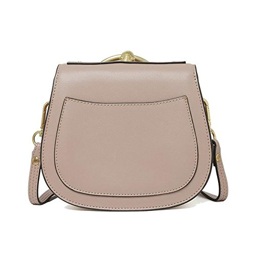 Genuine Leather Modo Anello Borsa Singola Spalla Crossbody Bag Piccolo Per Le Donne Beige2