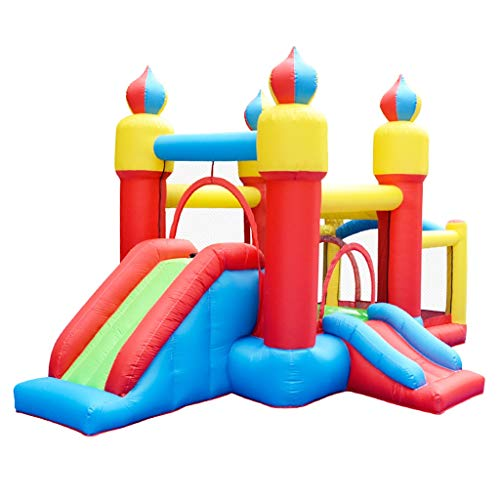 Bouncy Castles Sports Toys Indoor Children's Trampoline Outdoor Children's Amusement Park Children's Inflatable Toys Large Garden Children's Castle Outdoor Children's House