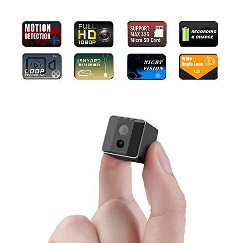 Mini Kamera,Überwachungskamera Ehomful Videokamera mikro Nanny Cam mit Bewegungserkennung und Infrarot NachtsichtCompact Sicherheit Kamera für Innen und Aussen Drahtlose Fernüberwachungskamera (Video-kamera Tasche)