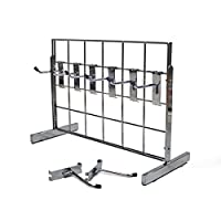 Counter Standing 2 Way Chrome Grid Panel Display with Hooks (E3MINI+)