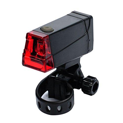 MKOOL Luz brillante luz de la bicicleta Trasera LED para carretera y monta?a, Caja Luz de advertencia, Negro