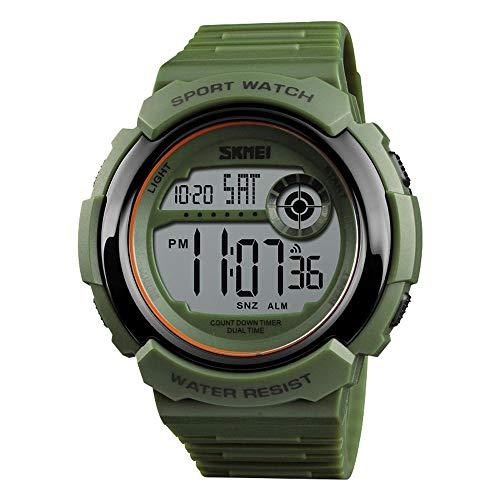 LQPDOZDJX Reloj al Aire Libre for los Hombres, de múltiples Funciones del dial Grande del Ejército...