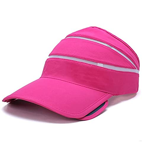 TJBGADIEMS Quick Dry Lightweight Soft Comfortable Visor Cap Blank Sun Caps Sports Empty Top Baseball Hat in Many Different Colors and Style(Rose