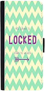 Snoogg Phone Is Locked Graphic Snap On Hard Back Leather + Pc Flip Cover Sams...
