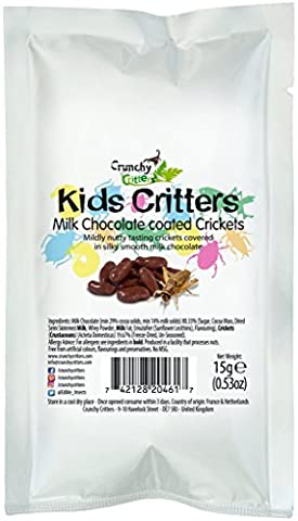 Kids Critters Milk Chocolate coated Crickets - 15 grams