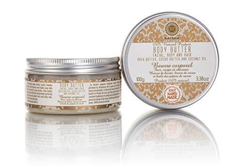 Saules Fabrika Premium Body-Butter handgemacht Körper Gesicht Haare natürlich Shea Kakao Kokos Bodybutter 100g -