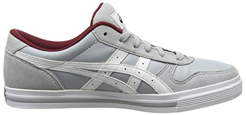 Asics Aaron, Baskets Basses Mixte Adulte Gris (light Grey/white 1301)