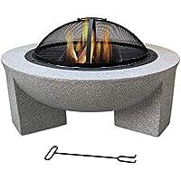 Brasero Exterior, Fogata de Jardín 75 * 40cm com Base de óxido de Magnesio de Moda y Artística para Jardín al Aire Libre Barbacoa Camping carbón de leña del Quemador