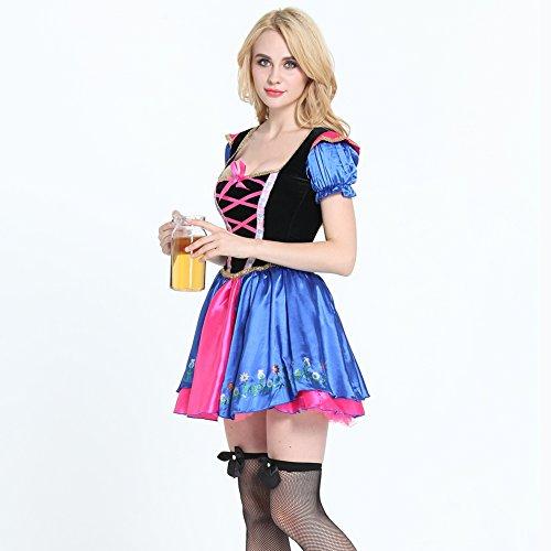 FeelinGirl Dirndl Resi, Trachtenkleid,Spitzenverzierungen, ideal für Oktoberfest u Karneval