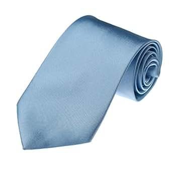 DAA3E01B Sky Blu fisso tessuto microfibra Eccellente Mens legame del collo per Groomsmen regalo di Dan Smith