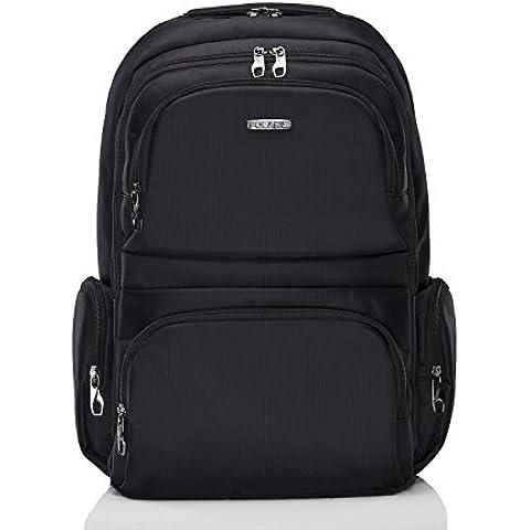 Polaris mochila portátil premium Negro - Dos años de garantía sin complicaciones (Negro)