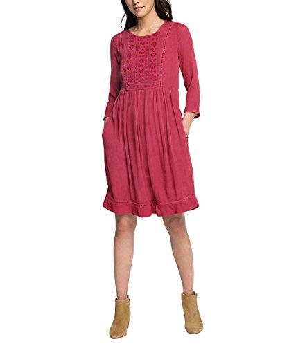 ESPRIT 076EE1E001, Vestito Donna, Rosso (CHERRY RED),