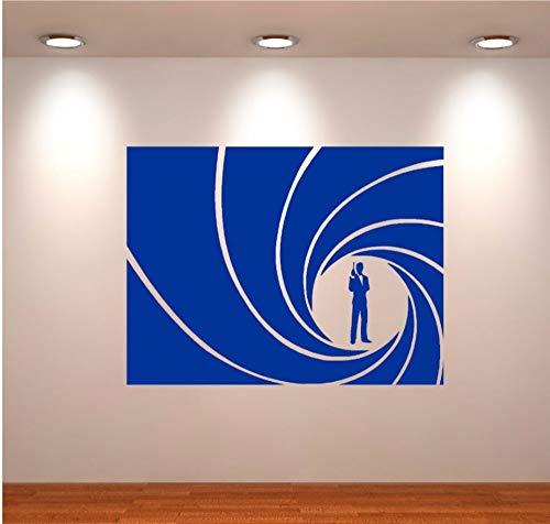 Umwelt Agent 007 James Bond thunfisch gekrümmte wandkunst aufkleber aufkleber vinyl wandaufkleber home decor wandbild 76 * 57 cm