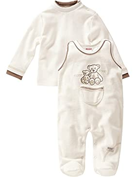 Schnizler Unisex Baby Strampler Set Nicki, Mama und Baby Bär, 2 - Tlg. mit Langarmshirt, Oeko-tex Standard 100