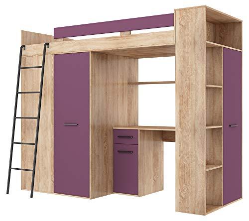 BIM Furniture Verana L - Litera 190 x 90 cm, con escaleras