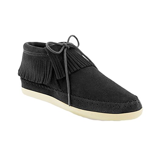 Minnetonka Damen Venice Sneaker Schwarz (Black)