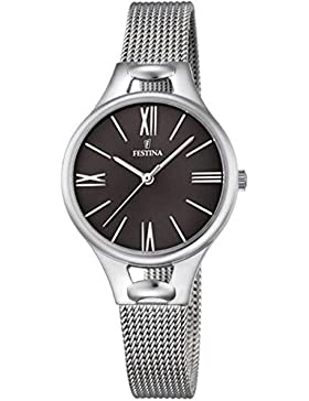 Festina Damen-Armbanduhr Analog Quarz Edelstahl F16950/2