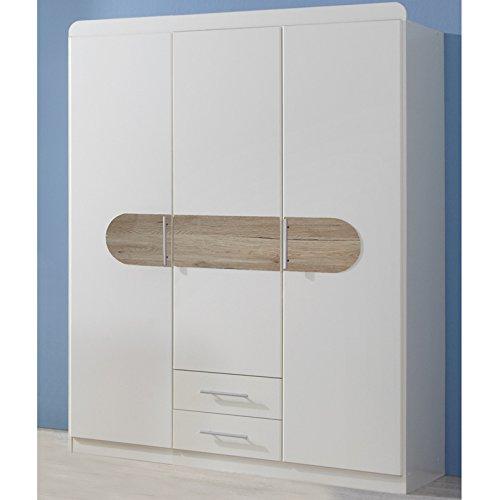 Wimex Kleiderschrank/ Drehtürenschrank Lilly, 2 Türen, (B/H/T) 135 x 175 x 58 cm, Weiß