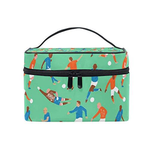 Tragbare hängende Make-up Kosmetiktasche Tasche,Makeup Bag Soccer Character Pattern Cosmetic Bag Portable Large Toiletry Bag for Women/Girls Travel -