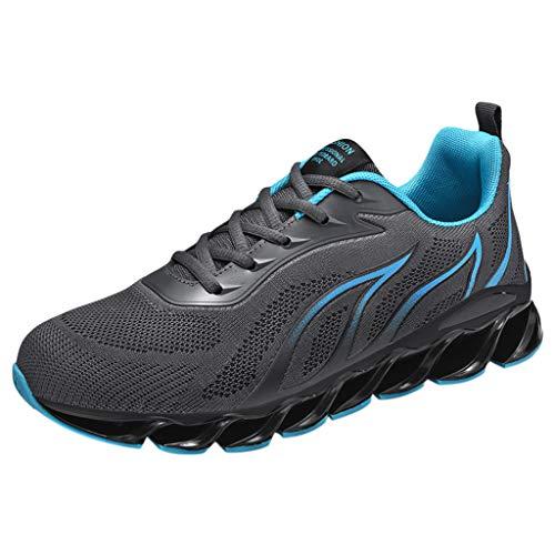 Lilicat Uomo Scarpe da Ginnastica Corsa Running Sneakers Sportive Fitness Basse Casual Scarpe da Corsa Sportive Antiscivolo in Mesh Traspirante Scarpe da Corsa (Grigio C,42 EU)