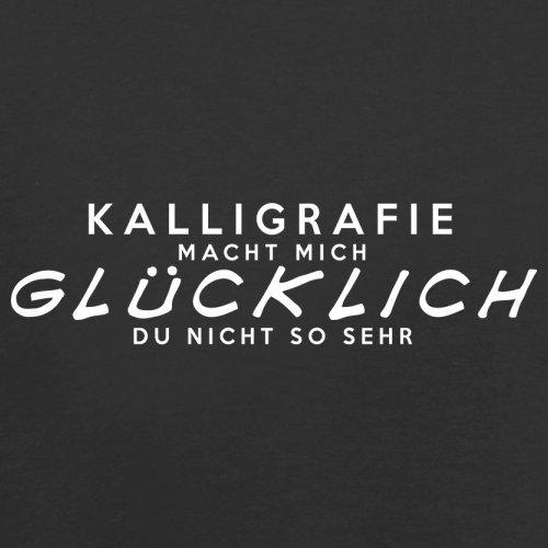 Kalligrafie macht mich glücklich - Unisex Pullover/Sweatshirt - 8 Farben Schwarz
