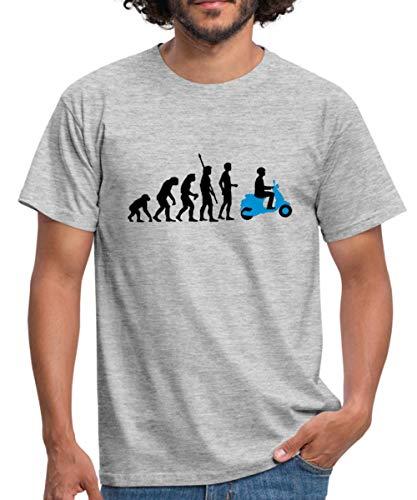 Evolution Vespa Männer T-Shirt, L, Grau meliert