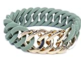The Rubz Armband Circle 25mm Green Tea/Soft Gold