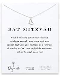 DOGEARED - Bat Mitzvah Charm on Cable Chain Necklace in Sterling Silver, 16""