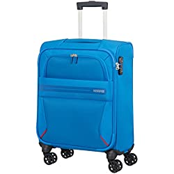 American Tourister Summer Voyager - Spinner 55/20 Equipaje de mano, 55 cm, 36 liters, Azul (Breeze Blue)