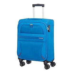 American Tourister Summer Voyager – Spinner 55/20 Equipaje de mano, 55 cm, 36 liters, Azul (Breeze Blue)