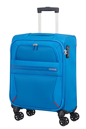 AMERICAN TOURISTER Summer Voyager – Spinner 55/20 Equipaje de mano, 55 cm, 36 liters, Azul (Breeze Blue)