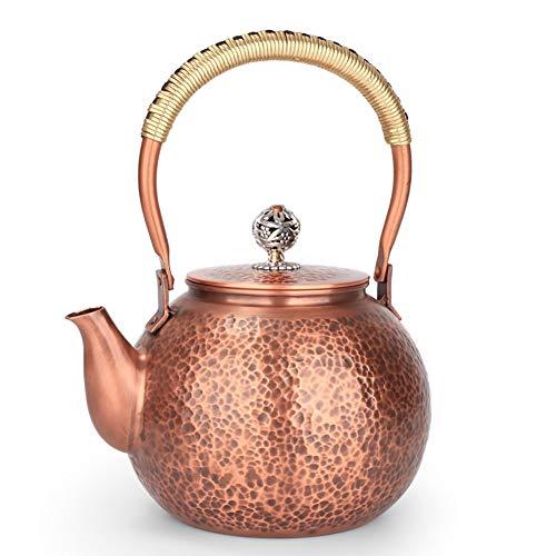 Mfun-CH Japanischer Stil Gegossen Kupfer Teekanne Kupfer Deckel Gekochte Wasser Gesundheit Retro-Handwerk