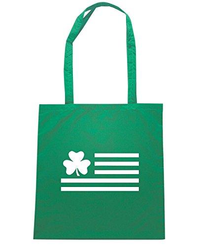 T-Shirtshock - Borsa Shopping TIR0108 irish shamrock flag dark tshirt Verde